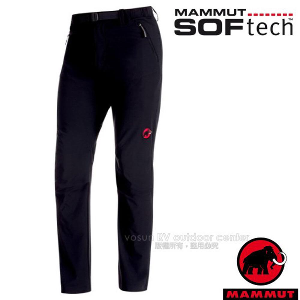 【瑞士 MAMMUT 長毛象】男 SOFtech TREKKERS 機能4D彈性快乾防潑水軟殼長褲/1020-09760-0001 黑