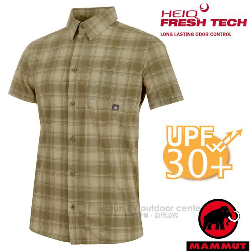 【瑞士 MAMMUT 長毛象】Trovat Trail 男新款 彈性透氣快乾短袖襯衫/1015-00071-4072 橄欖綠