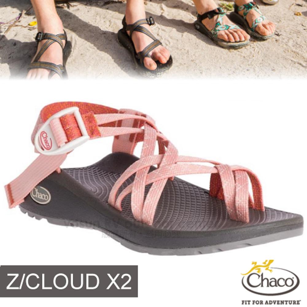 【美國 Chaco】女 Z/CLOUD 2 越野紓壓運動涼鞋(夾腳款)/戶外拖鞋/ CH-ZLW04-HF13 愛吃水蜜桃