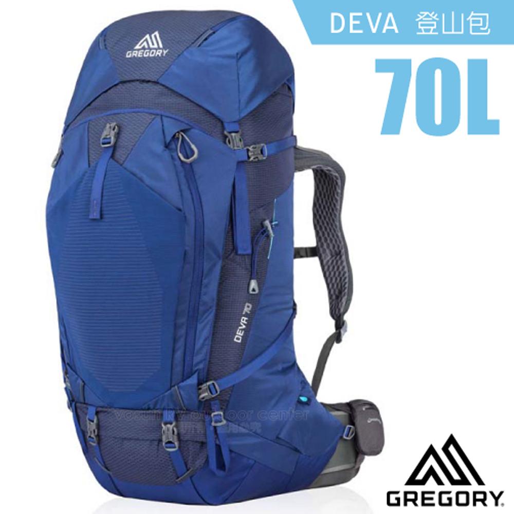 【美國 GREGORY】女新款 DEVA 70L 專業健行登山背包S(附全罩式防雨罩)_91625 夜景藍