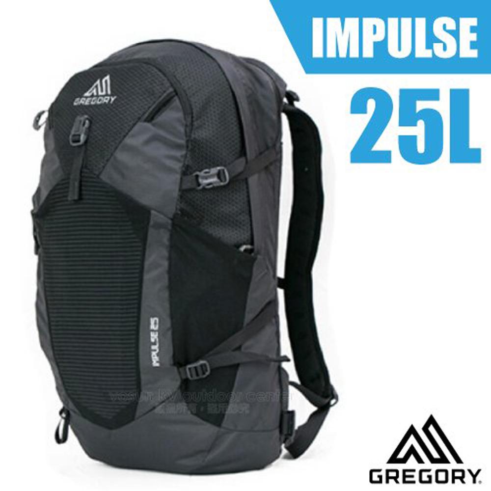 【美國 GREGORY】IMPULSE 25L 多功能休閒後背包.書包(15吋平板電腦隔間)/116207 黑