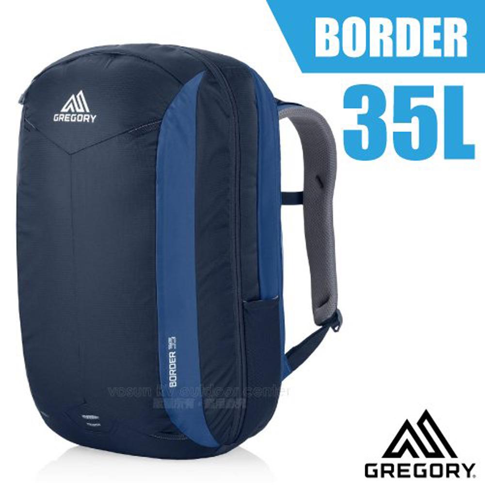 【美國 GREGORY】新款 Border 35 專業輕量電腦後背包(15吋筆電隔層)/104090 印第哥藍