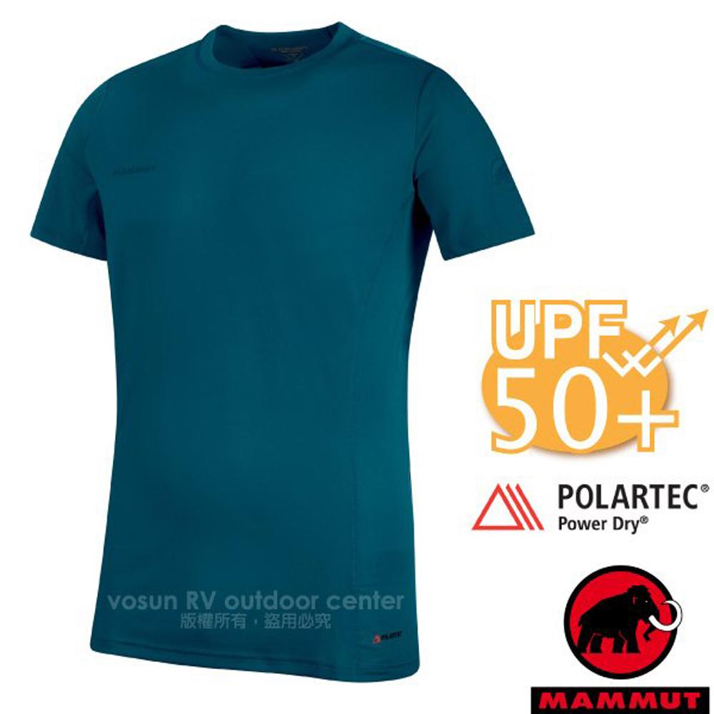 【瑞士 MAMMUT 長毛象】Sertig T-Shirt 男款 短袖圓領多功能排汗上衣(UPF50抗UV)/1017-00110-50134 波賽頓
