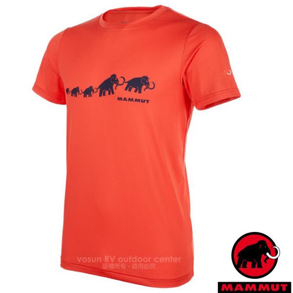 【瑞士 MAMMUT 長毛象】QD AEGILITY 男新款 彈性透氣短袖圓領T恤.休閒衫/1017-10062-2197 深鋅紅