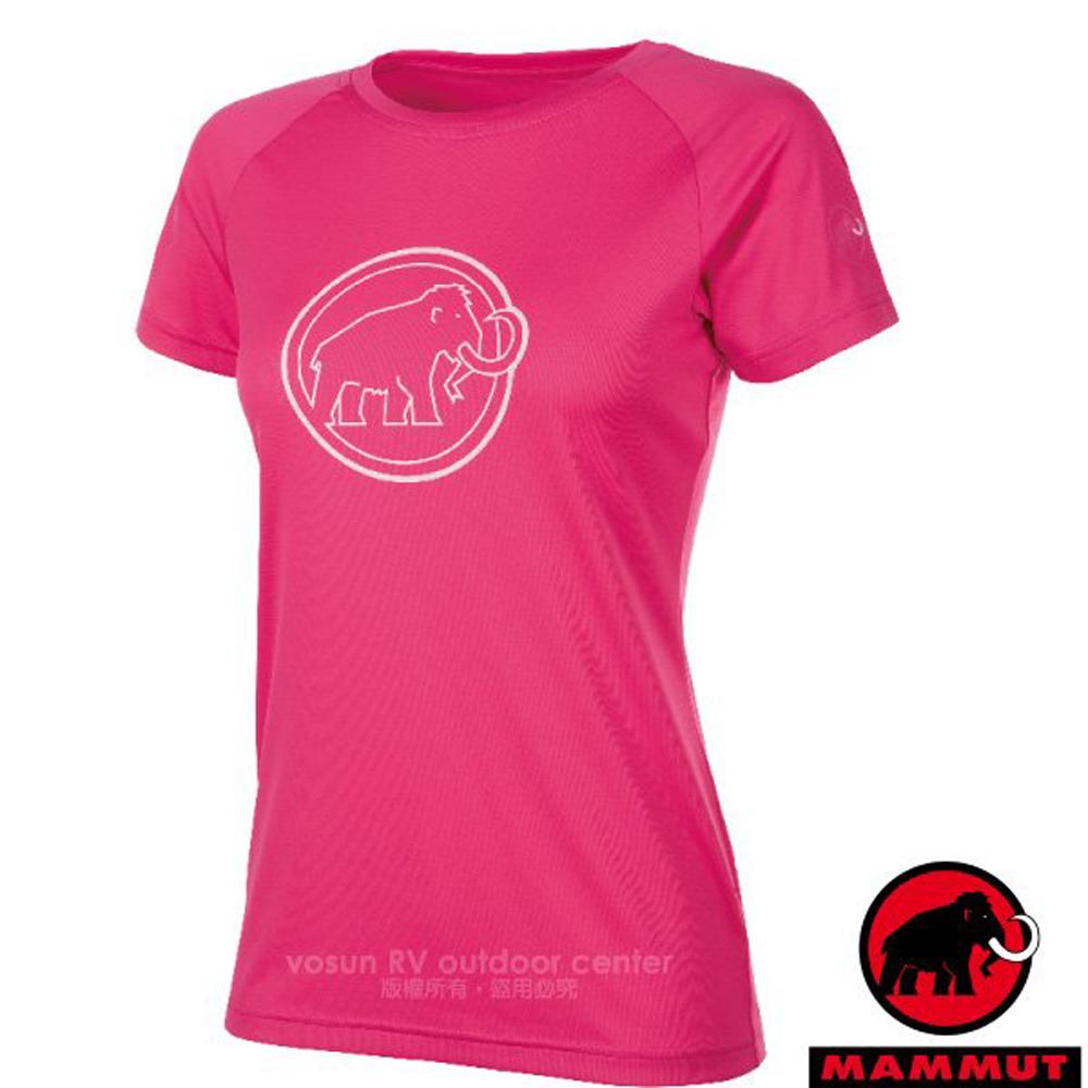 【瑞士 MAMMUT 長毛象】QD AEGILITY 女新款 彈性透氣短袖圓領T恤.休閒衫/1017-10072-6085 桃紅