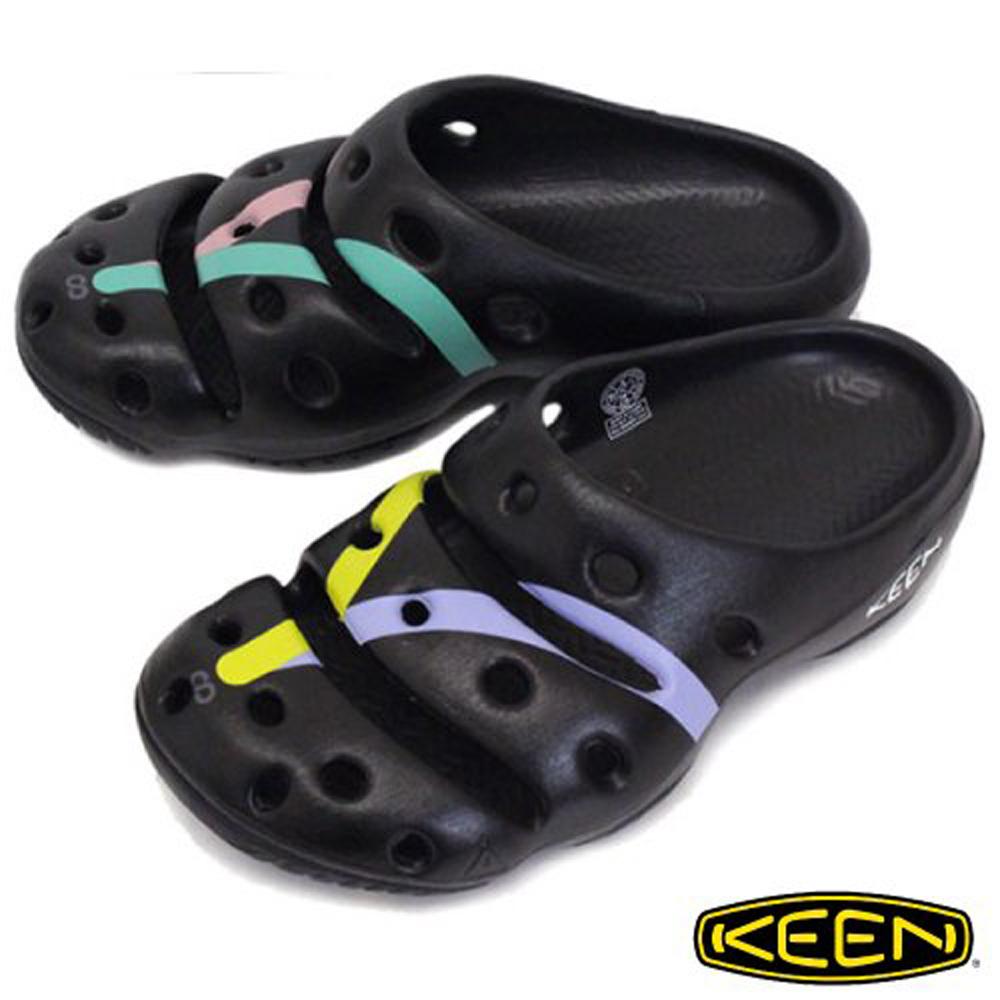 【美國 KEEN 】男 YOGUI ARTS 專業戶外護趾拖鞋/透氣.快乾_ 1020294 黑/彩色