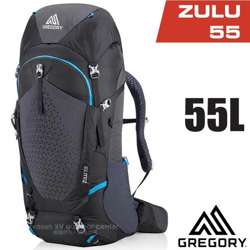 【美國 GREGORY】 Zulu 55 專業健行登山背包(55L_附全罩式防雨罩)_111592 臭氧黑
