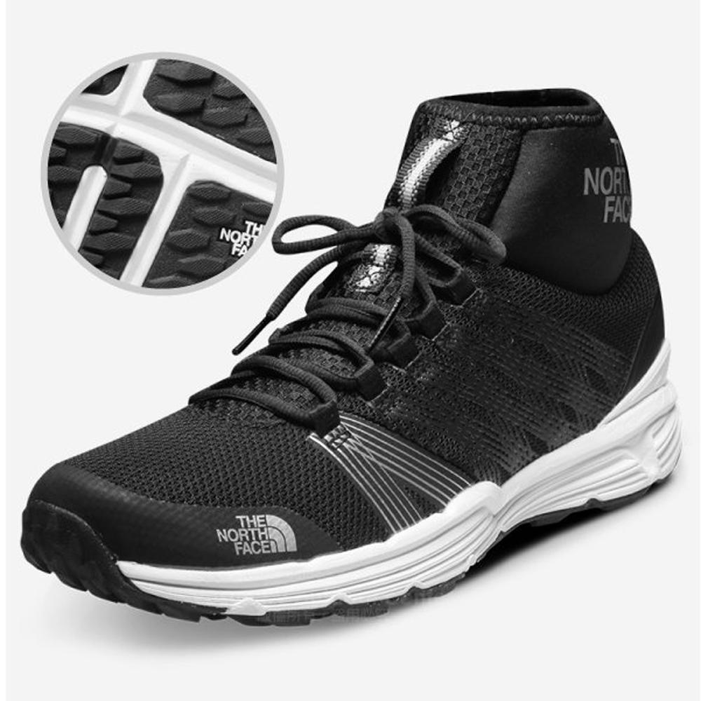 【美國 The North Face】女款 輕量透氣耐磨輕量越野鞋/UltrATAC橡膠外底/休閒鞋.健行鞋/39IN 黑V