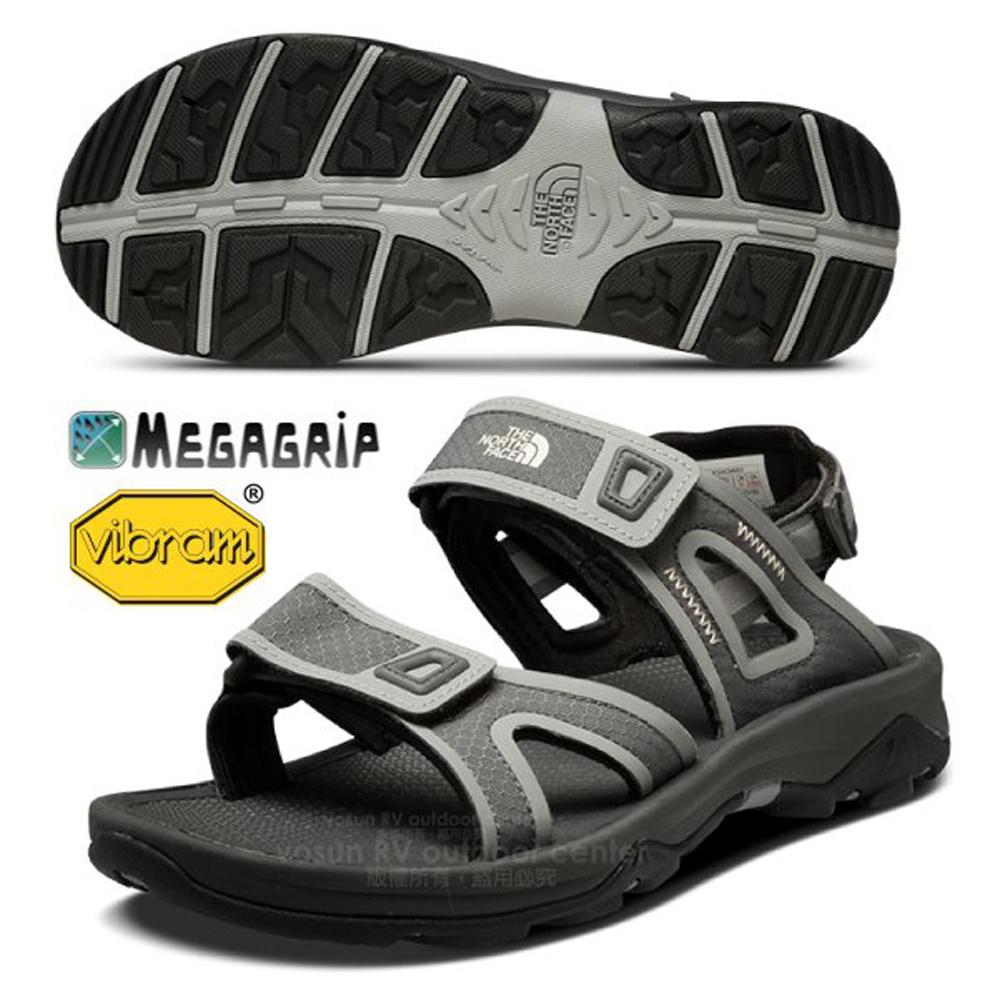 【美國 The North Face】男款 HEDGEHOG SANDAL 抓地耐磨可調式織帶涼鞋/水陸兩用涼鞋 CC3D 灰 V