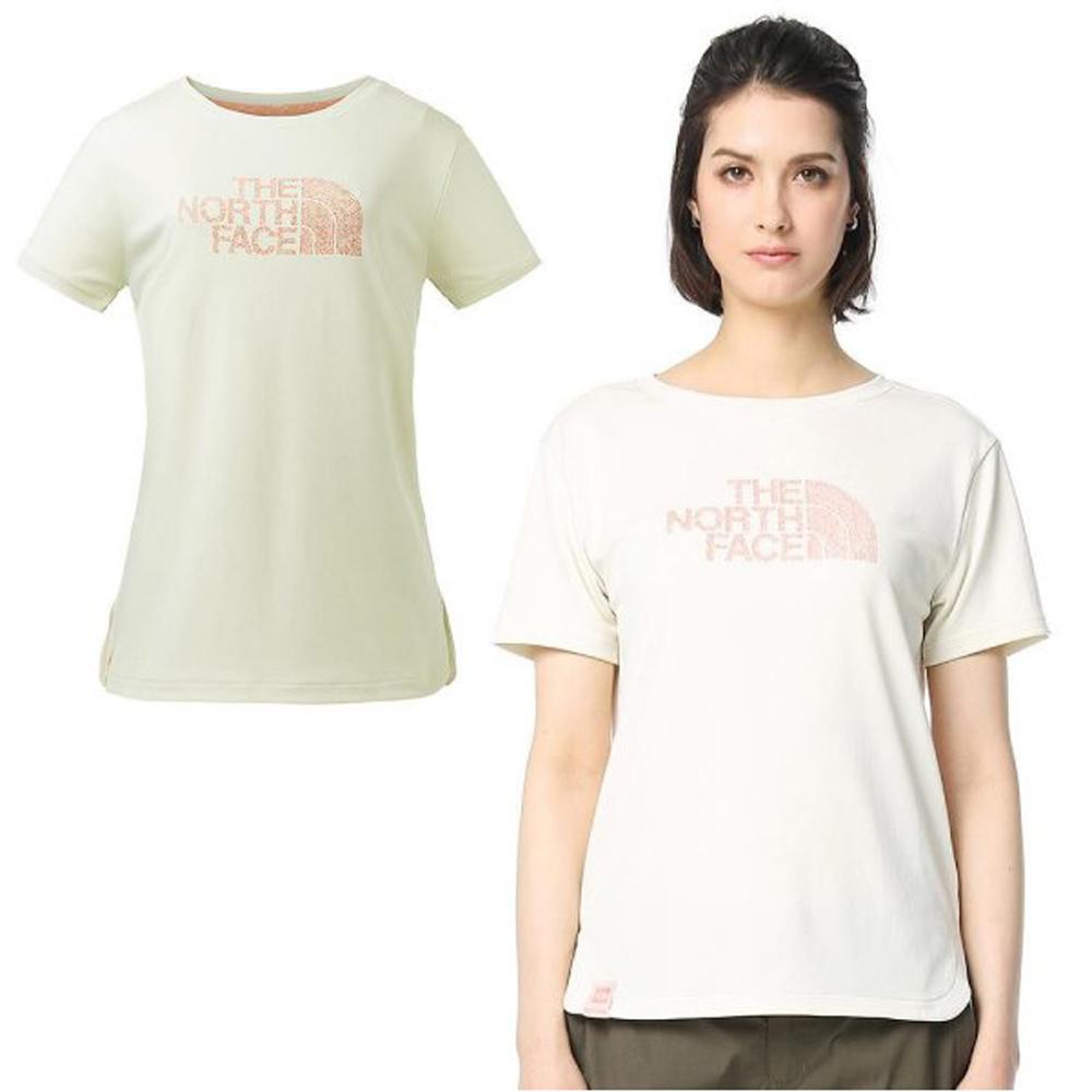 【美國 The North Face】女款 FlashDry 閃電快乾短袖圓領快排衫.機能性排汗衣.圓領T恤/3GCG 白 V