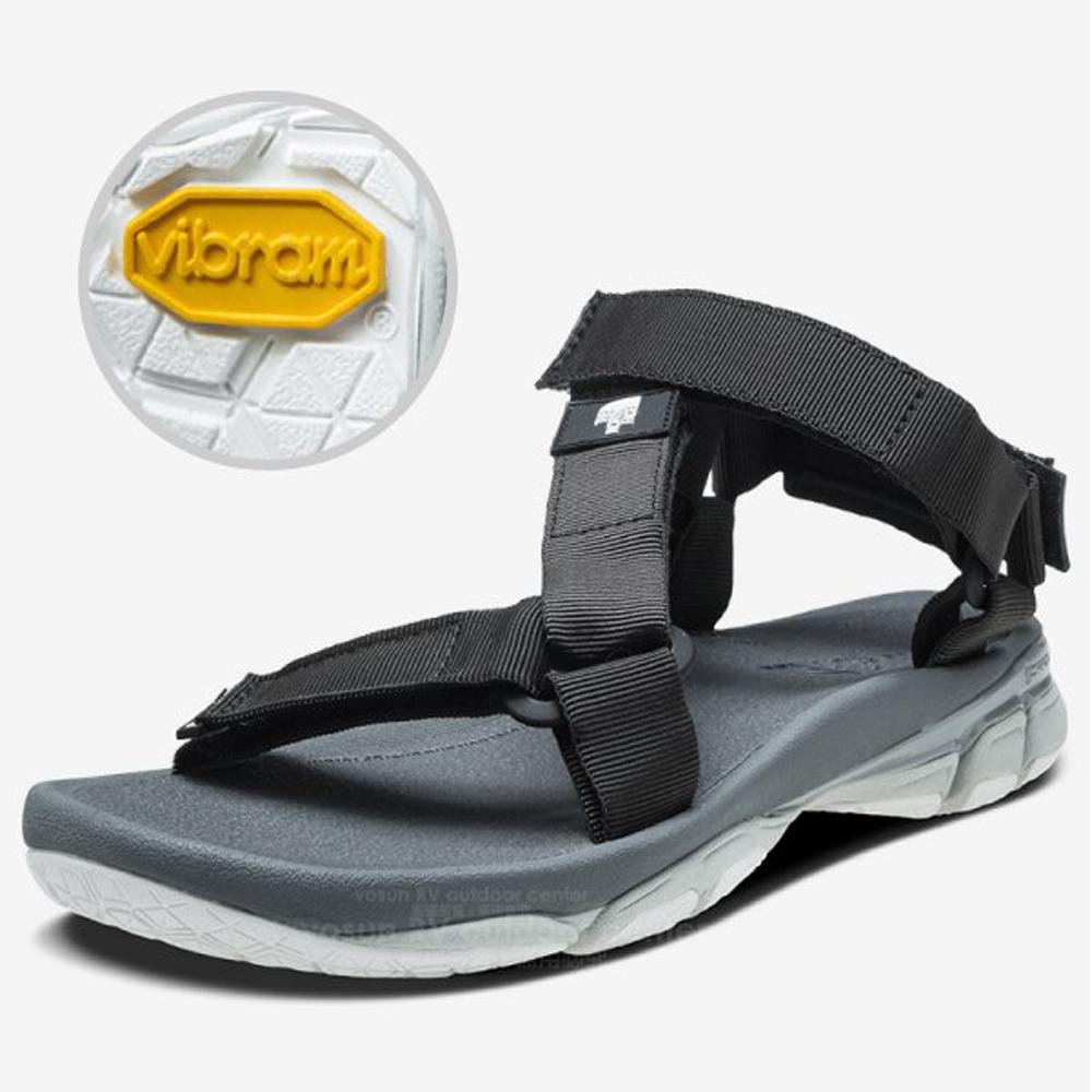 【美國 The North Face】中性款 ULTRA TIDAL 輕便抓地三點式可調節織帶涼鞋/拖鞋 3RCX 黑 V