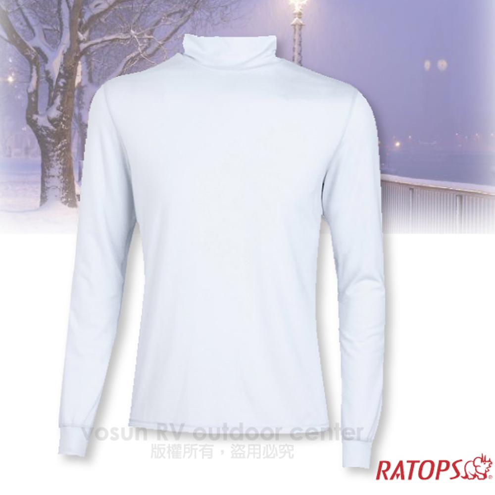 【瑞多仕-RATOPS】男款 VILOFT 高領彈性保暖衣.長袖排汗衣/舒適.透氣.保暖_DB4645 象牙白色
