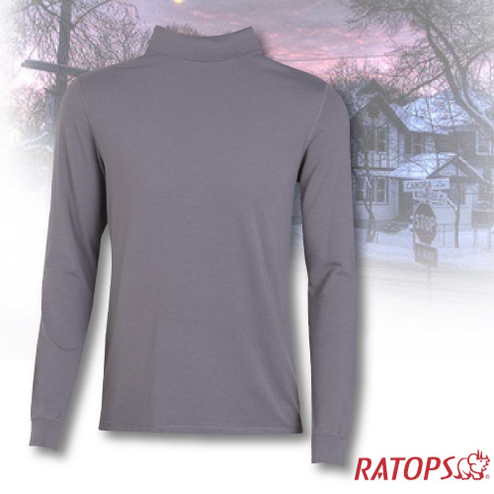 【瑞多仕-RATOPS】男款 VILOFT 高領彈性保暖衣.長袖排汗衣/舒適.透氣.保暖_DB4646 鐵灰色