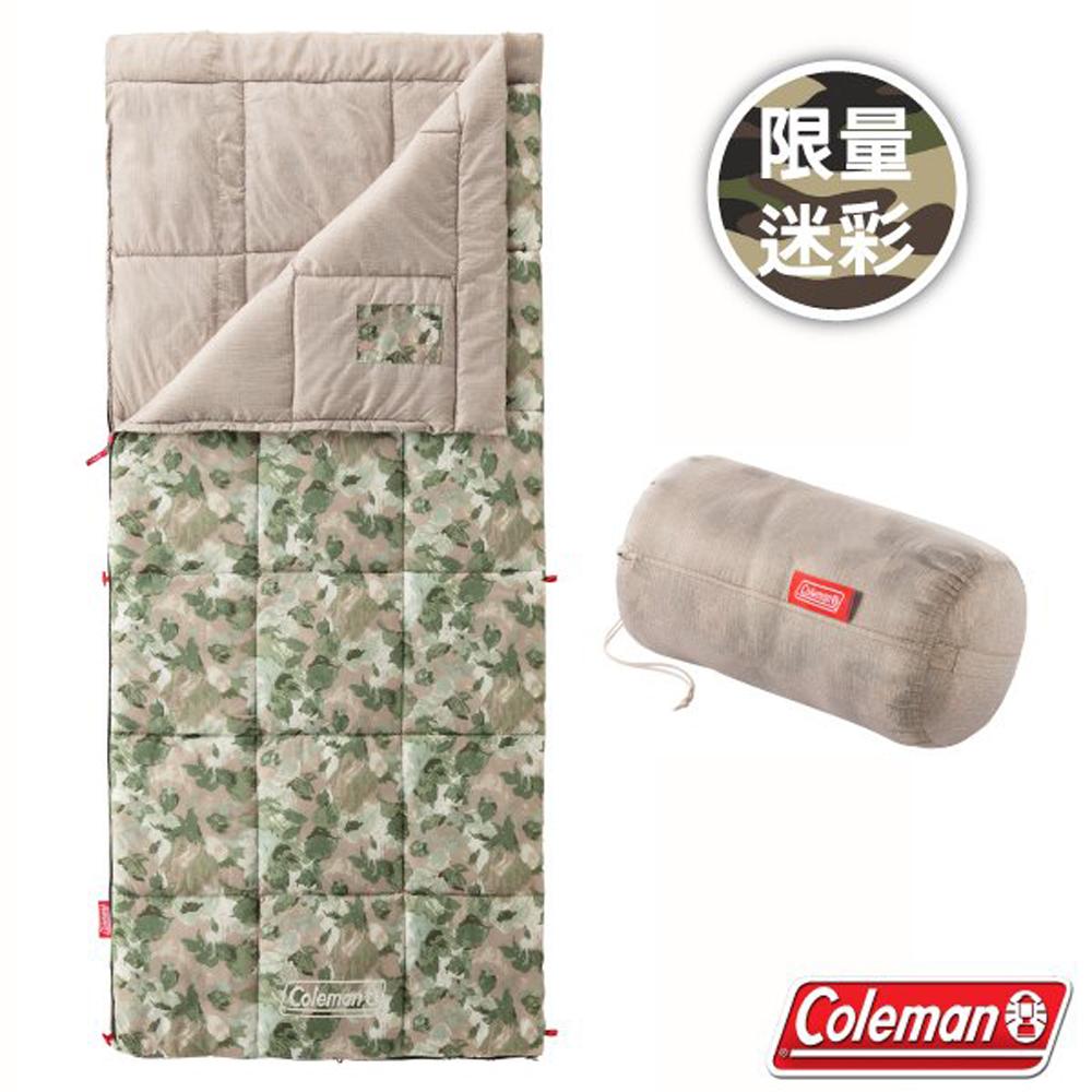 【美國 Coleman】限量迷彩 C10 表演者III大自然睡袋.信封型睡袋/可機洗/附收納袋_CM-35288