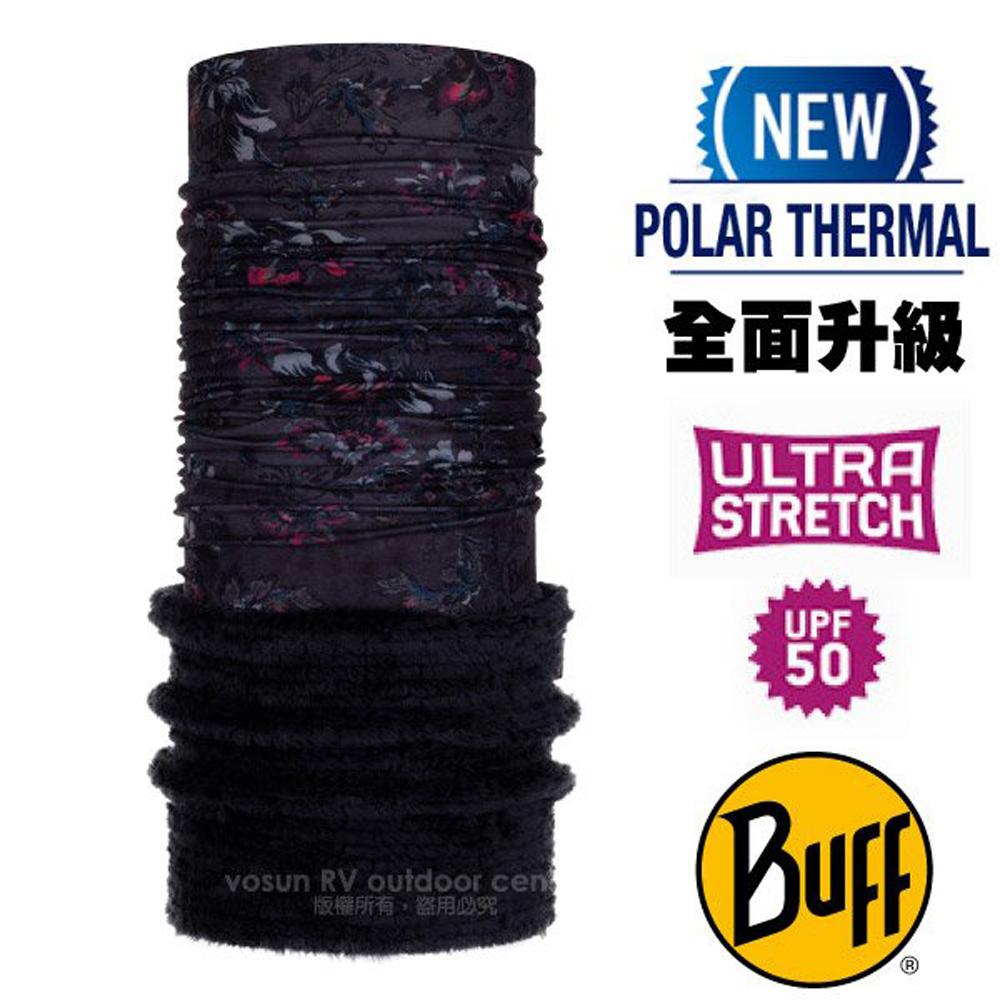 【西班牙 BUFF】Polar Thermal 超彈性保暖魔術頭巾 Plus(吸溼排汗+抗菌除臭)/120934 黑夜花園