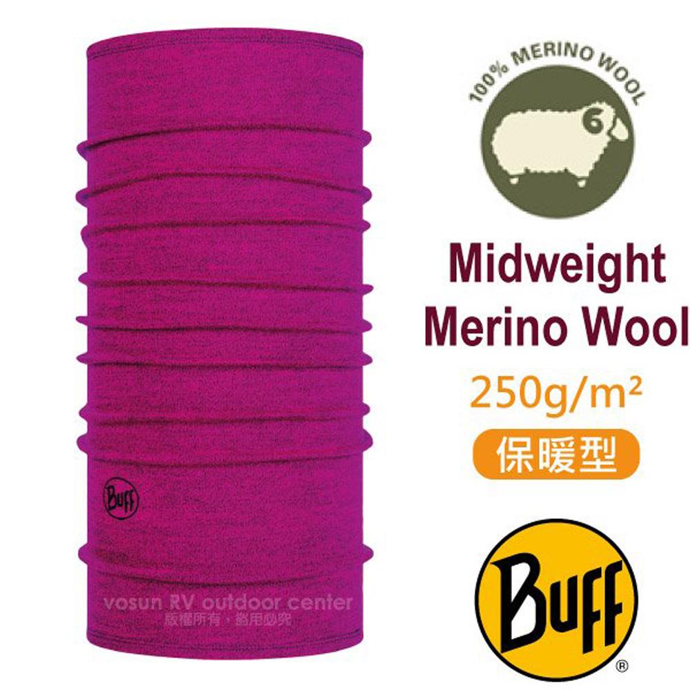 【西班牙 BUFF】保暖織色 Merino 美麗諾羊毛中量級超彈性恆溫保暖魔術頭巾_113022 俏洋紅