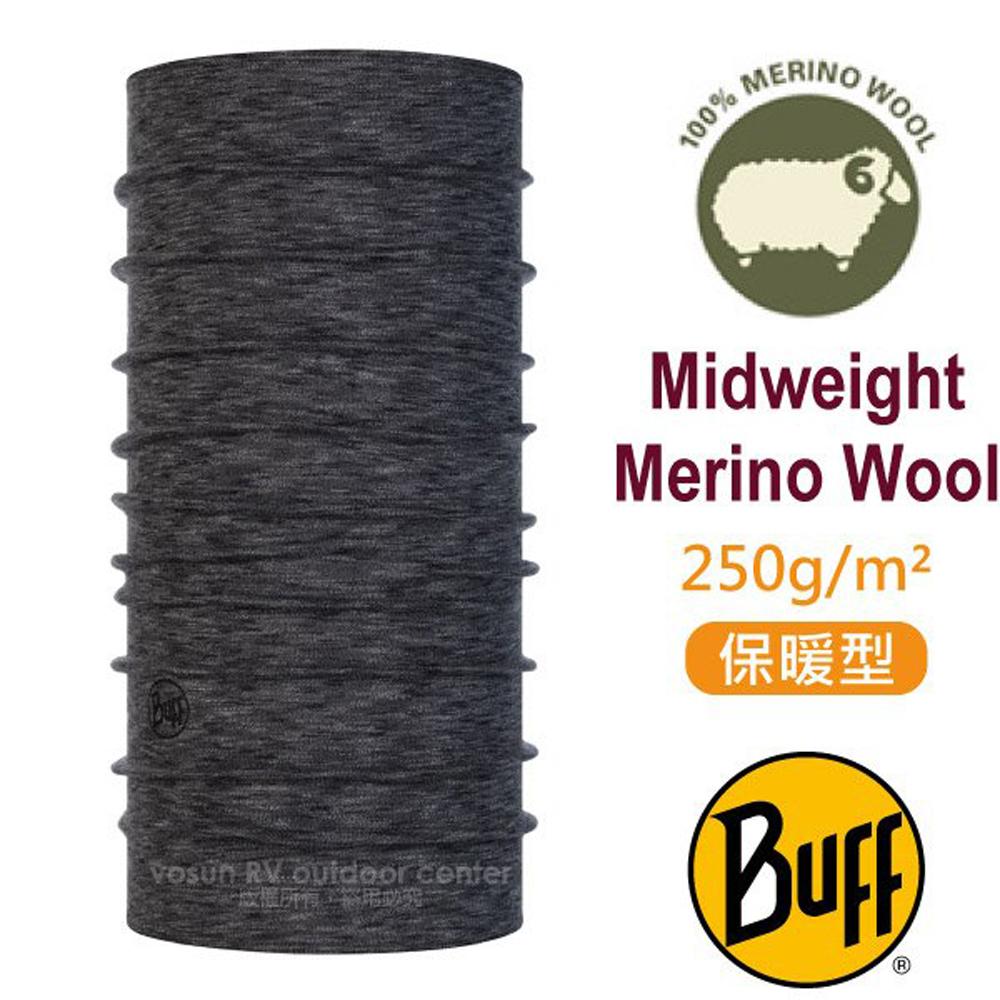 【西班牙 BUFF】保暖條紋 Merino 美麗諾羊毛中量級超彈性恆溫保暖魔術頭巾_117820 編織岩灰