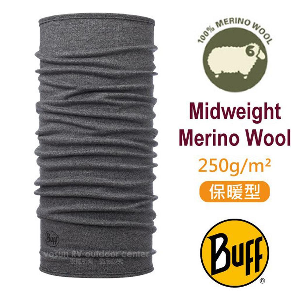【西班牙 BUFF】保暖織色 Merino 美麗諾羊毛中量級超彈性恆溫保暖魔術頭巾_113022 知性灰