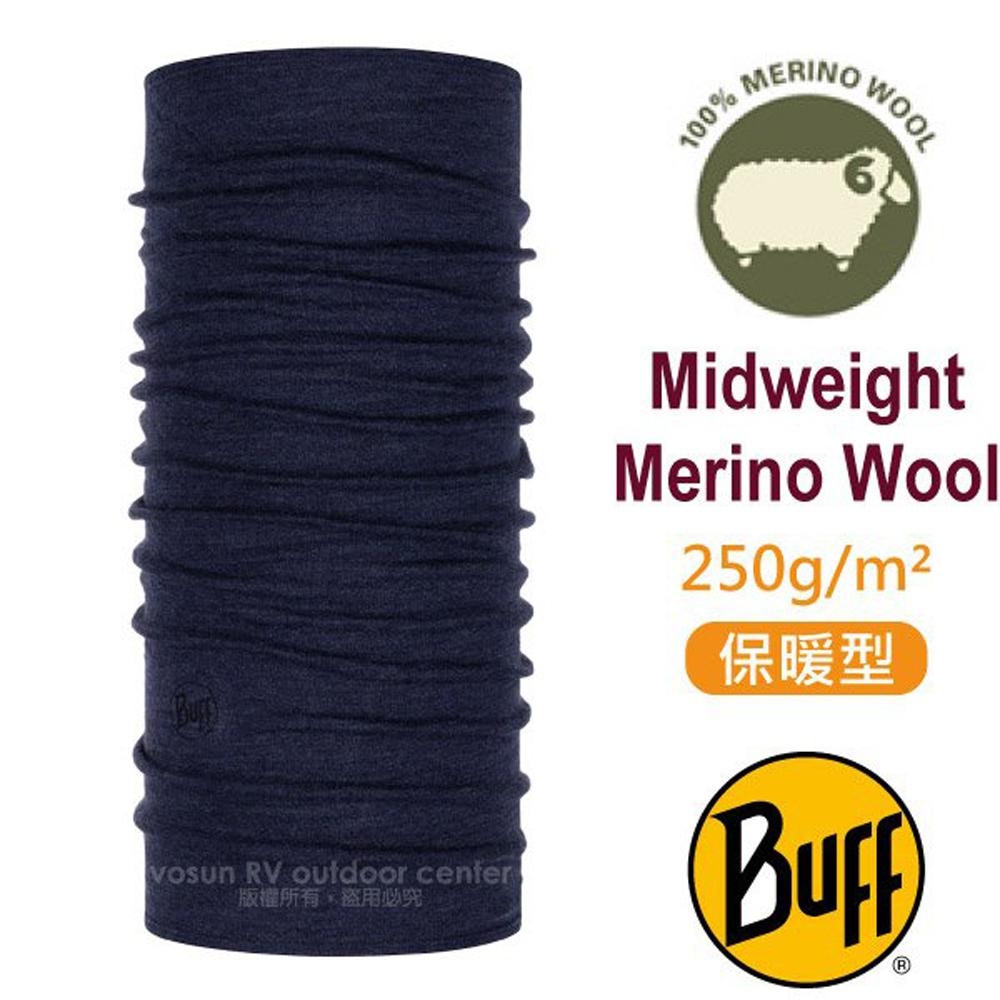 【西班牙 BUFF】保暖織色 Merino 美麗諾羊毛中量級超彈性恆溫保暖魔術頭巾_113022 午夜藍