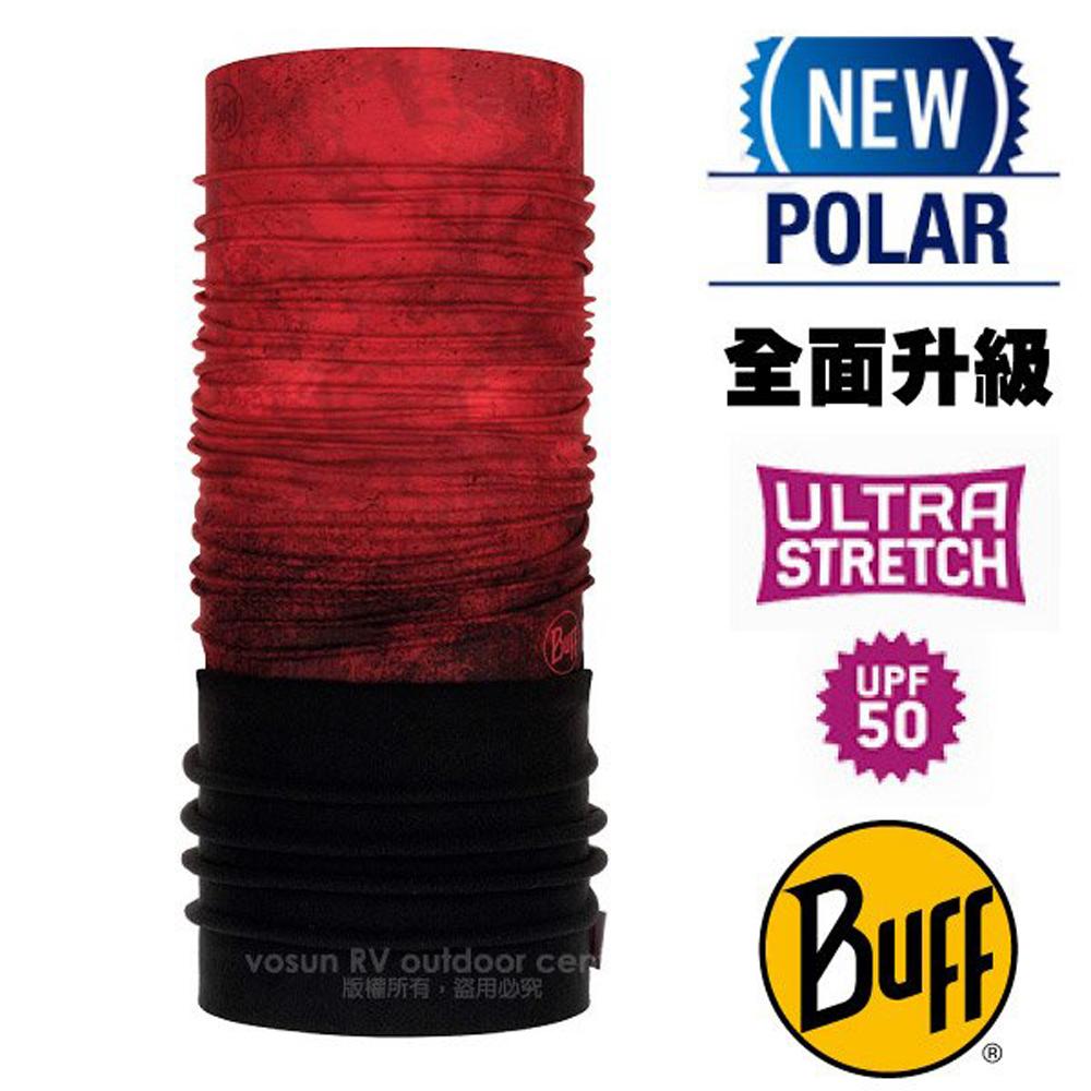【西班牙 BUFF】超彈性 Polar保暖魔術頭巾 Plus(上層吸溼排汗+下層柔軟刷毛)/120894 烈火重生