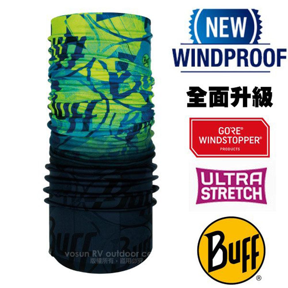 【西班牙 BUFF】Windstopper防風保暖魔術頭巾(吸溼排汗+抗菌除臭.銀離子Polygiene)/121523 綠色蚱蜢