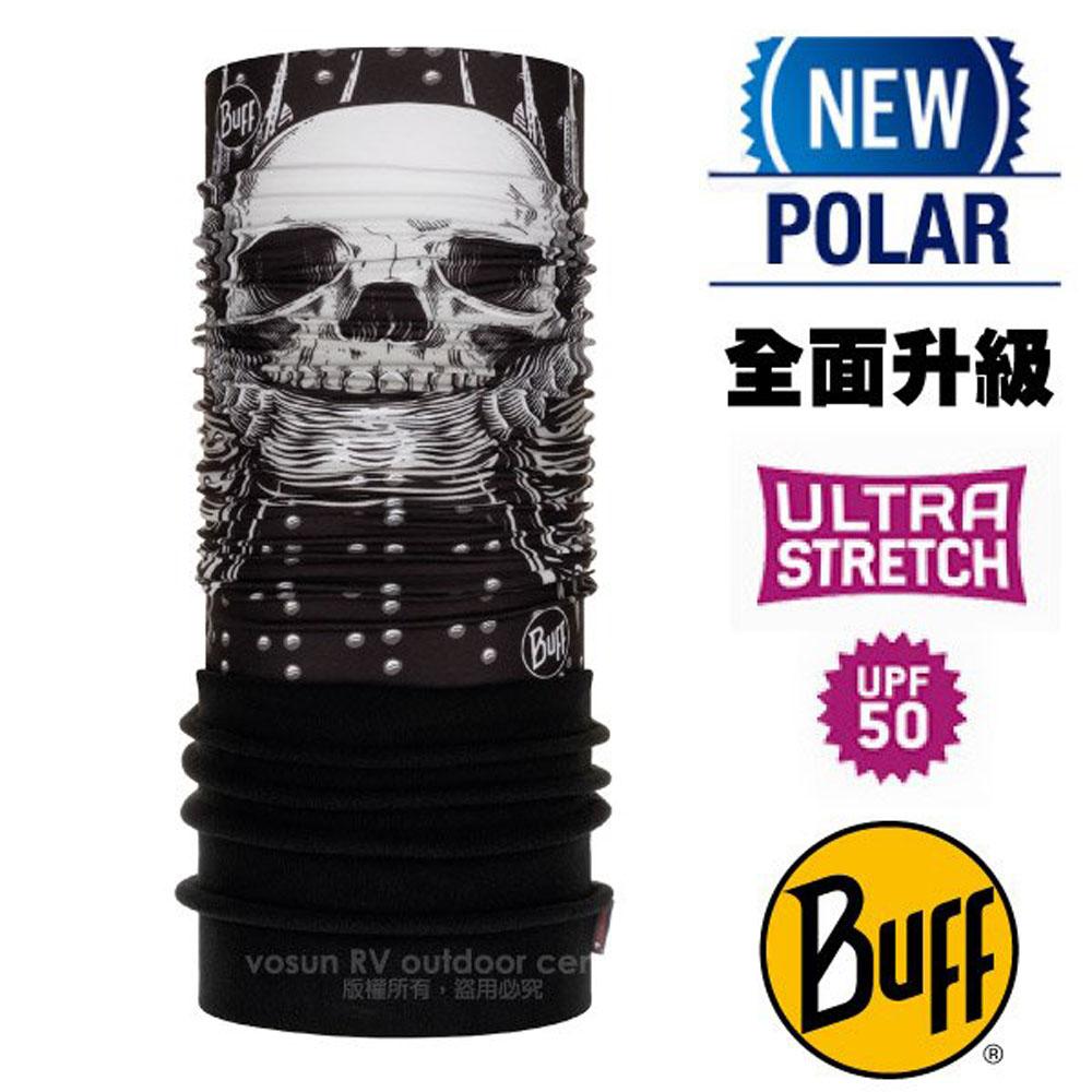 【西班牙 BUFF】超彈性 Polar保暖魔術頭巾 Plus(上層吸溼排汗+下層柔軟刷毛)/120906 龐克骷髏