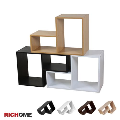(原價990)【RICHOME】艾維斯L型創意組合櫃(4入)-4色