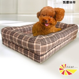 【凱蕾絲帝】英倫粉格-記憶寵物時尚床墊(中)