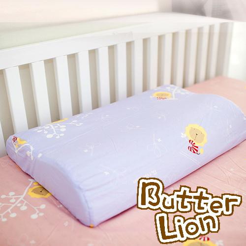 【奶油獅】正版授權~乳膠、記憶工學大枕專用100%純棉枕頭套(幻紫2入)