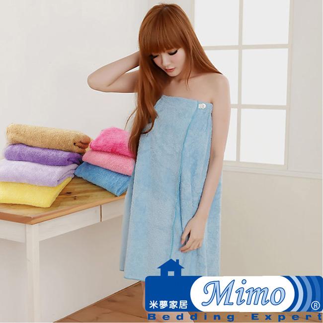 《米夢家居》水乾乾SUMEASY開纖吸水紗-浴裙(淺藍)