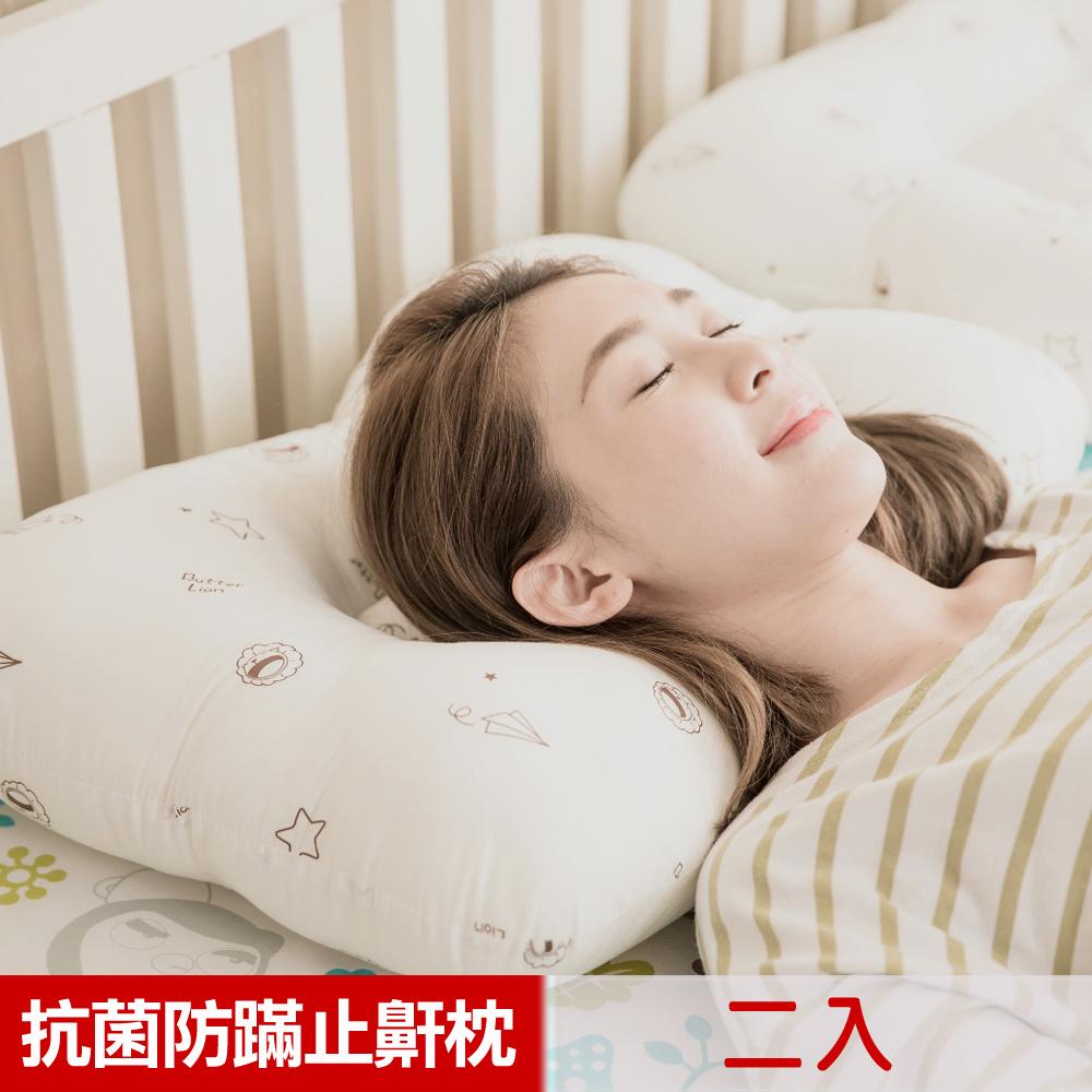 【奶油獅】星空飛行-美國防蹣抗菌可水洗物理健康止鼾枕(二入) _1組