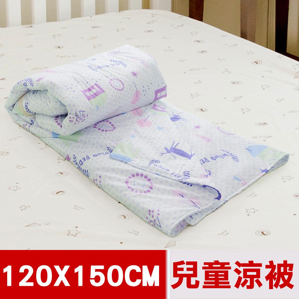 【米夢家居】原創夢想家園系列-台灣製造100%精梳純棉兒童涼被/夏被4*5尺(白日夢)