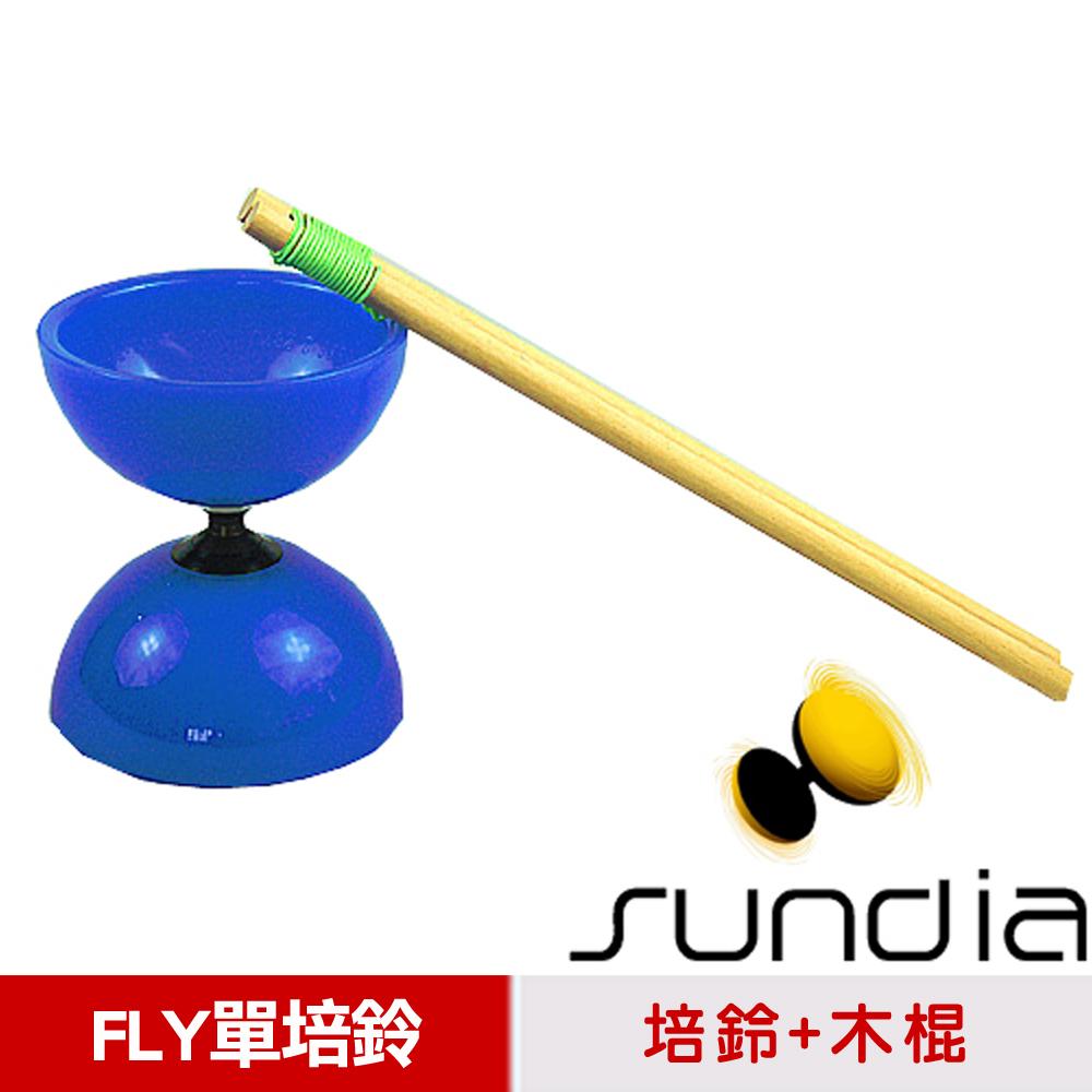 【三鈴SUNDIA】台灣製造FLY長軸培鈴扯鈴(附木棍、扯鈴專用繩)-藍色