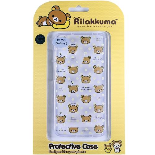 Rilakkuma 拉拉熊 懶懶熊 ASUS ZenFone 5 彩繪透明保護軟套~繽紛大
