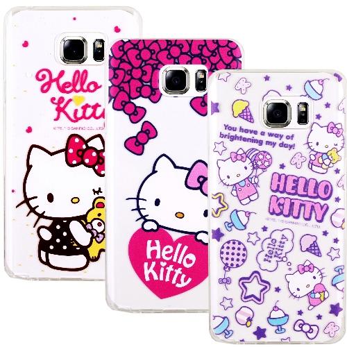 ~Hello Kitty~Samsung Galaxy Note 5 彩繪透明保護軟套