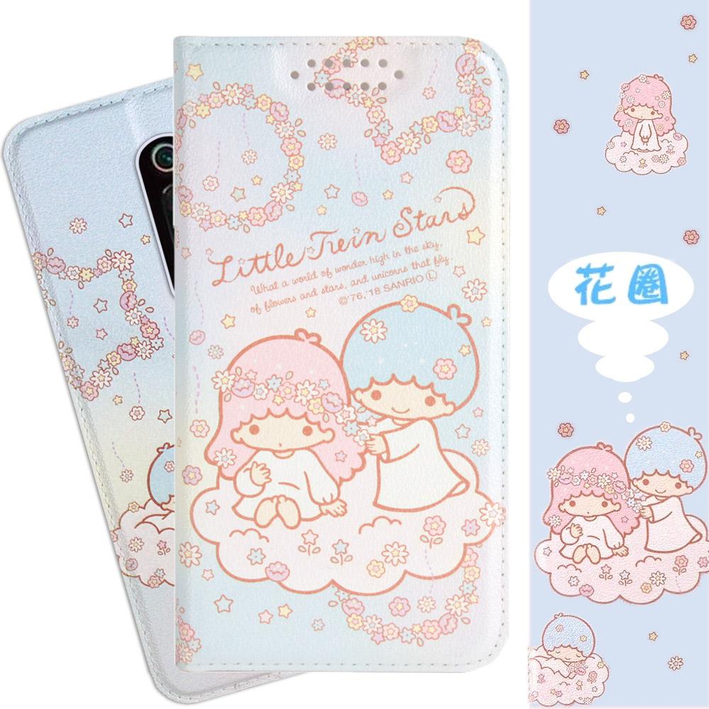 【雙子星】小米9T 甜心系列彩繪可站立皮套(花圈款)