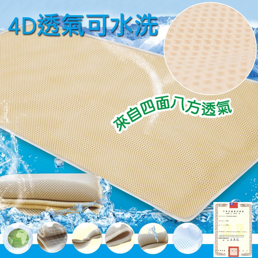 【蒙娜麗莎】台灣製4D超透氣專利止滑可水洗速乾床墊-6尺雙人加大