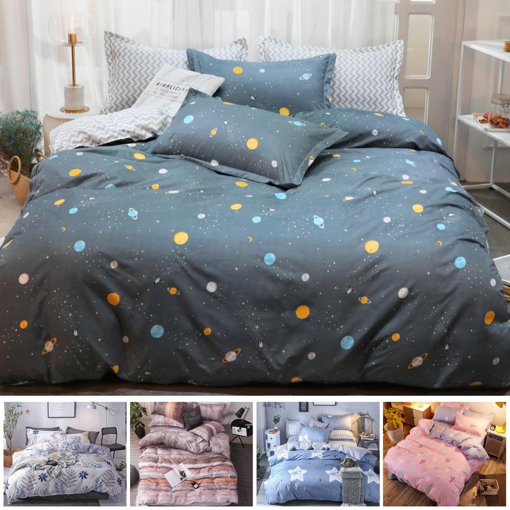 【eyah 宜雅】100%時尚天使絨雙人加大床包枕套3件組-多款任選