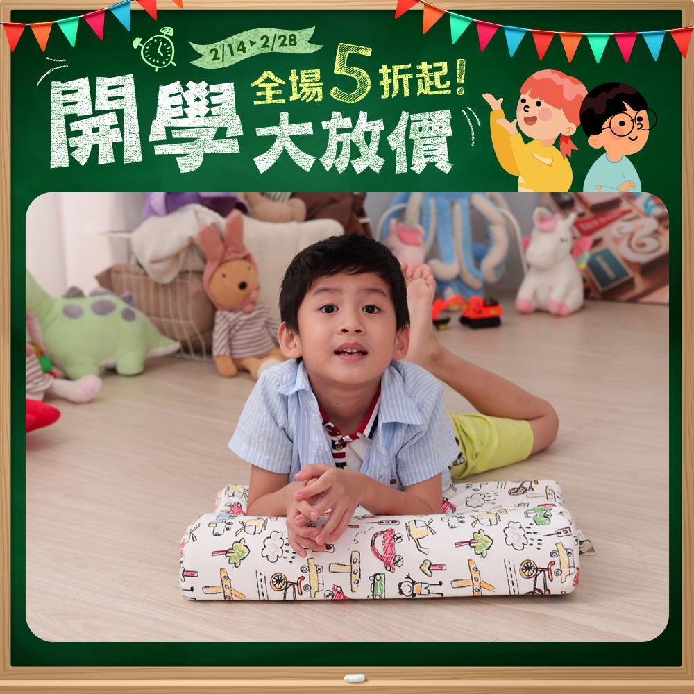 【Leafbaby】100%天然乳膠兒童枕1入 多款任選