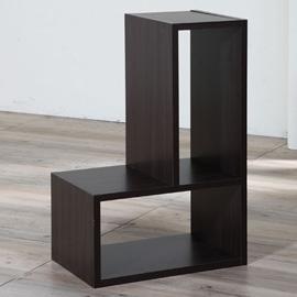 【洛克】創意變化置物書櫃-胡桃木色4入