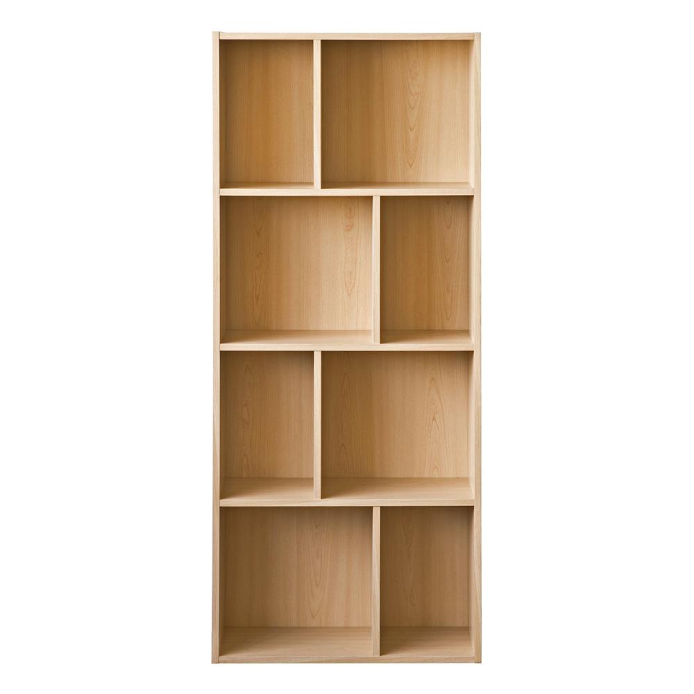 【洛克】升级款四层八格柜-木纹色
