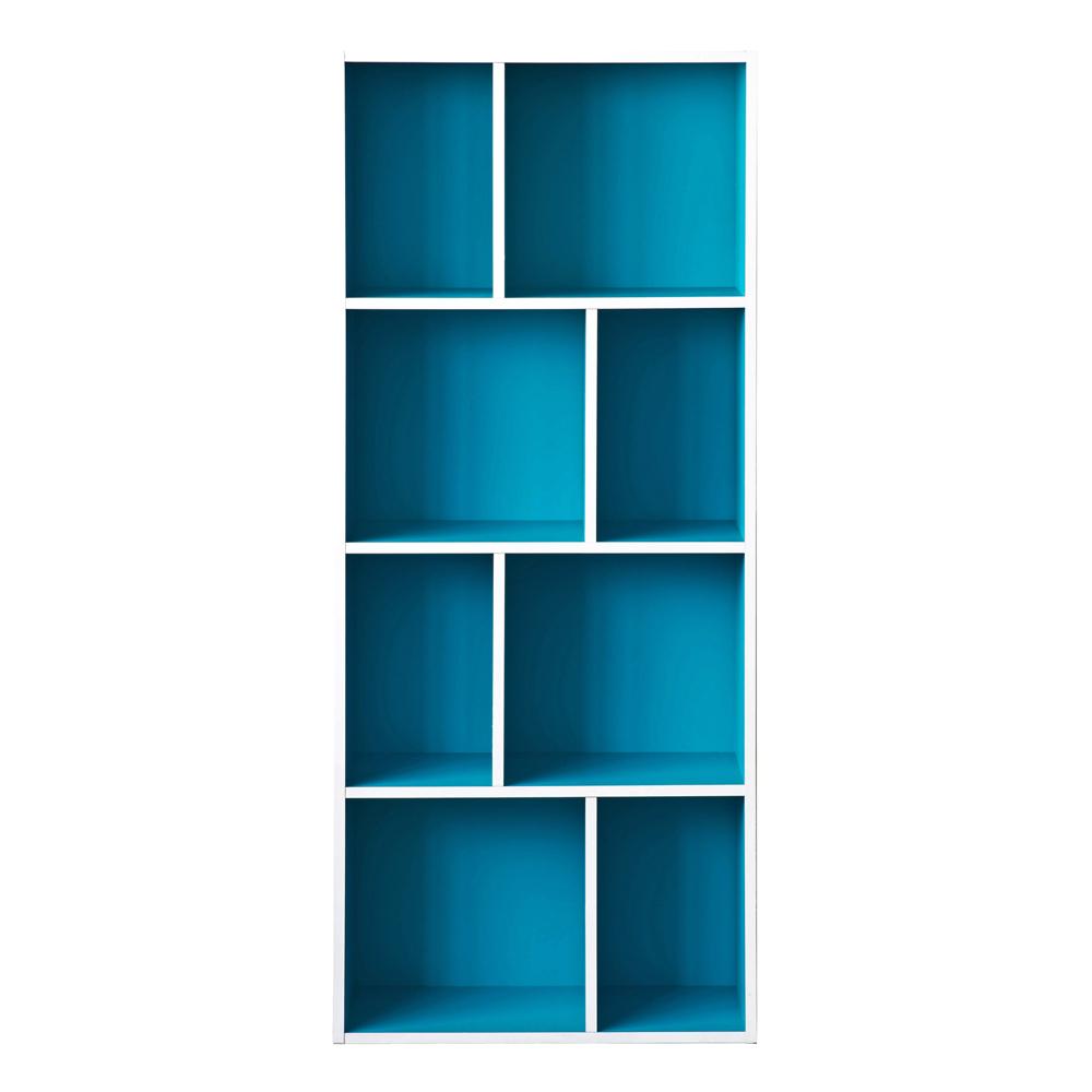【洛克】升级款四层八格柜-蓝色