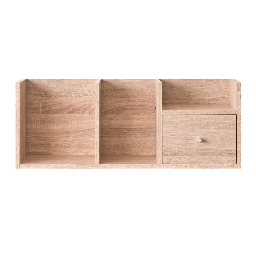 【洛克】高尚堆疊收納架-淺橡木色