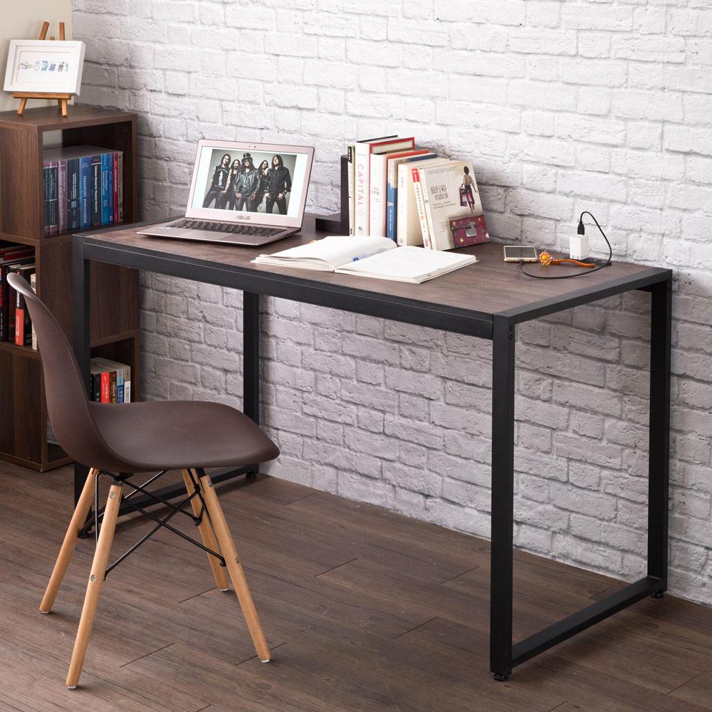 【洛克】德爾128cm寬穩固鐵管書桌