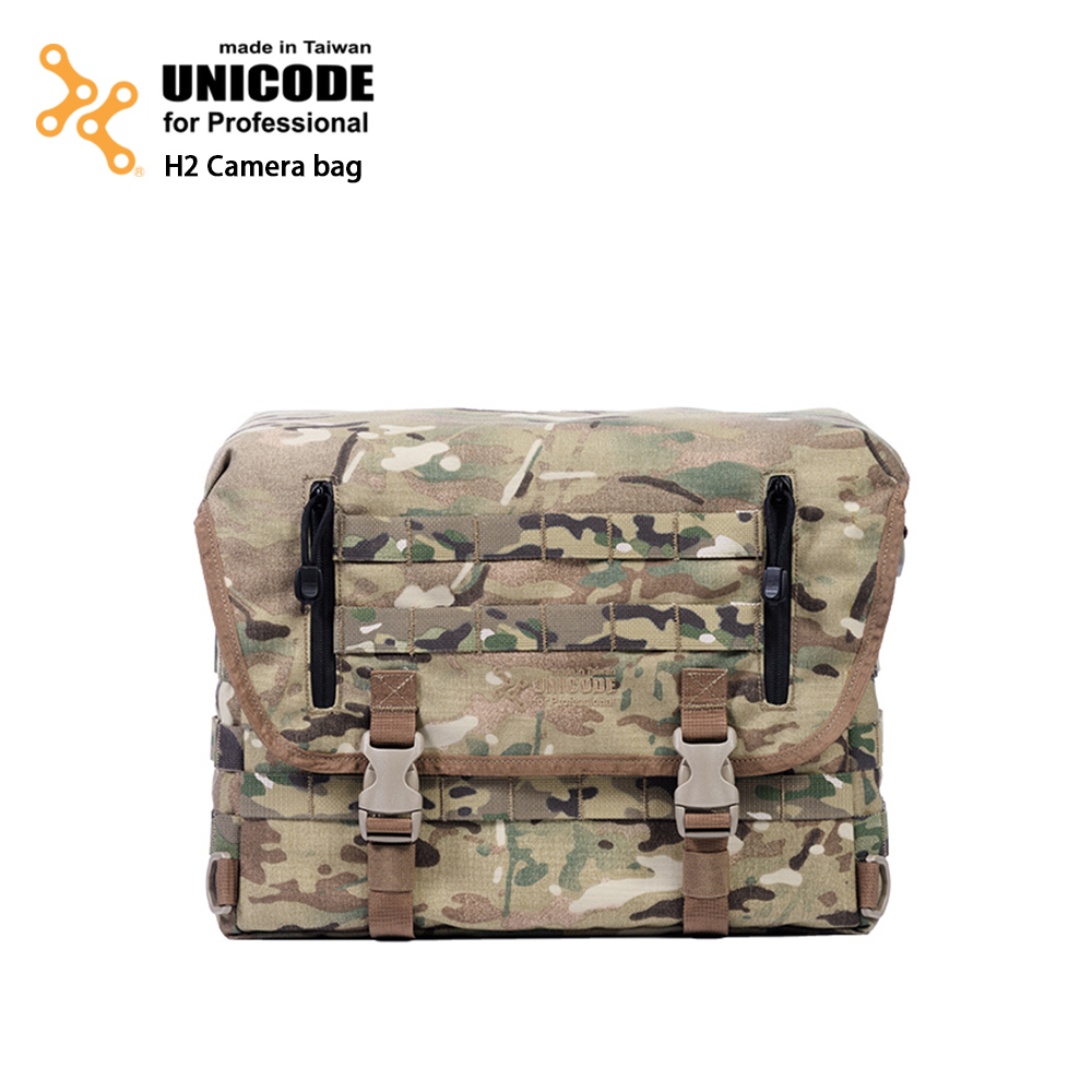 UNICODE H2 Camera Bag 军事摄影包 基本款-多地型迷彩-送Swallow Minipod脚架
