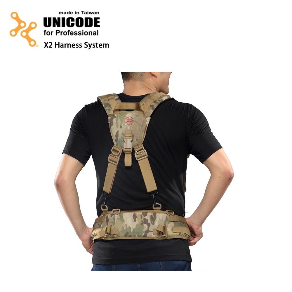 UNICODE X2 Harness System 通用双肩腰封负重系统-多地型迷彩-送Swallow Minipod脚架
