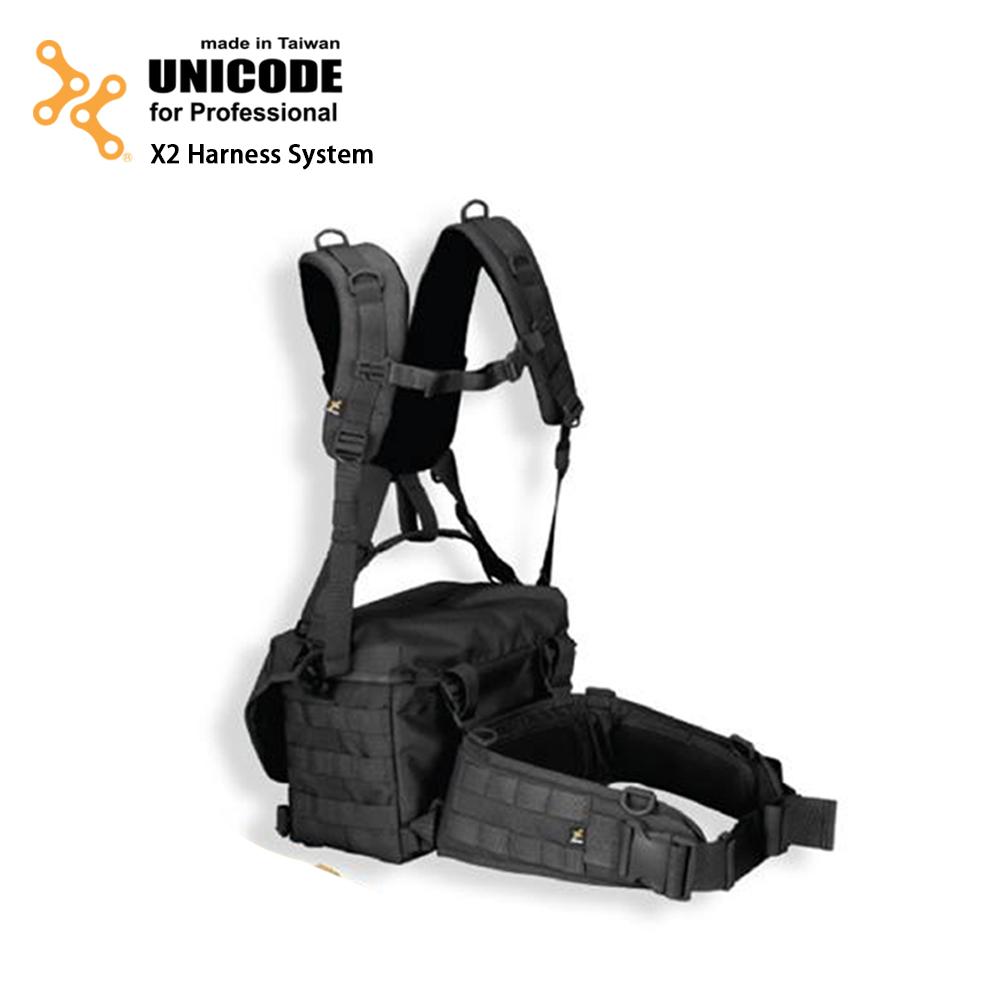 UNICODE X2 Harness System 通用双肩腰封负重系统-经典黑-送Swallow Minipod脚架