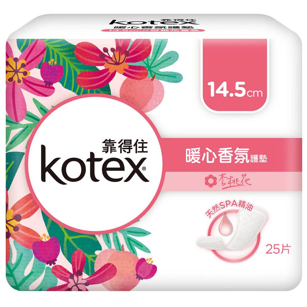 靠得住暖心香氛杏桃花 平日護墊14.5cm 25片x8包