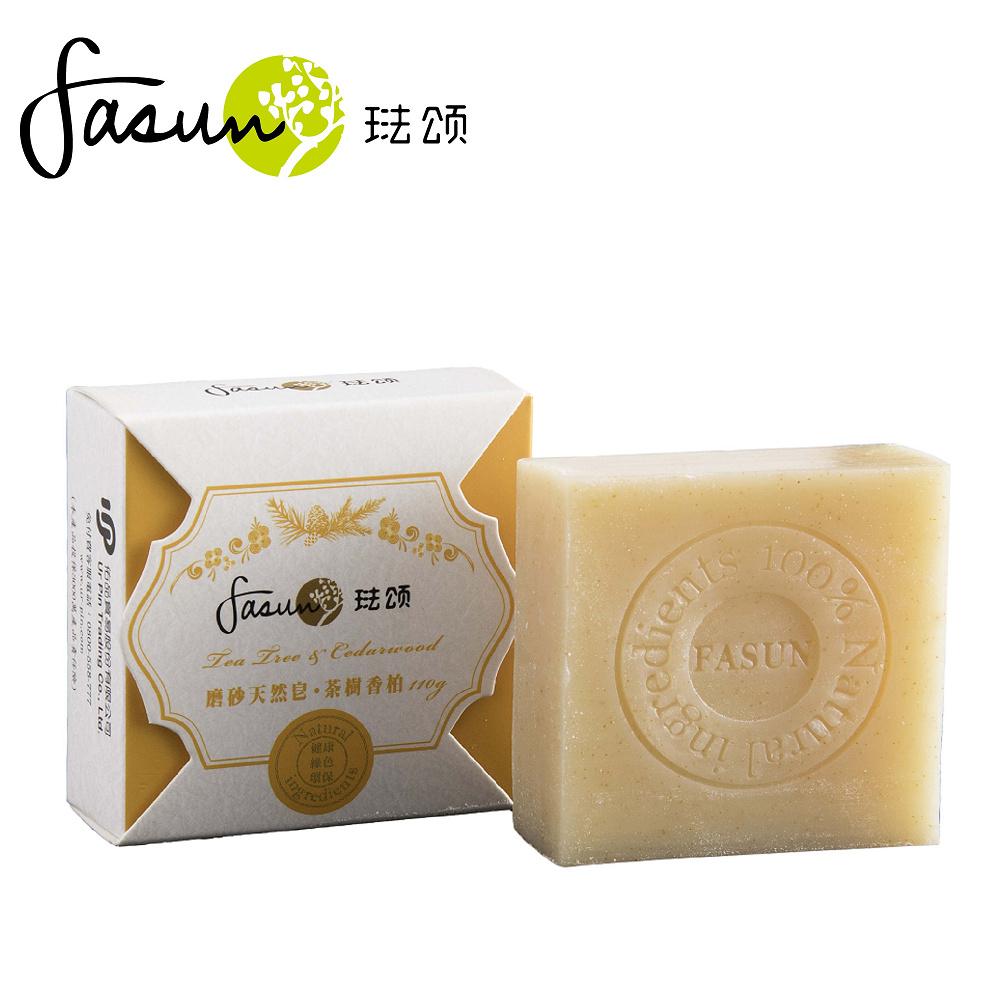 FASUN琺頌-磨砂天然皂-茶樹香柏 110g / 1個