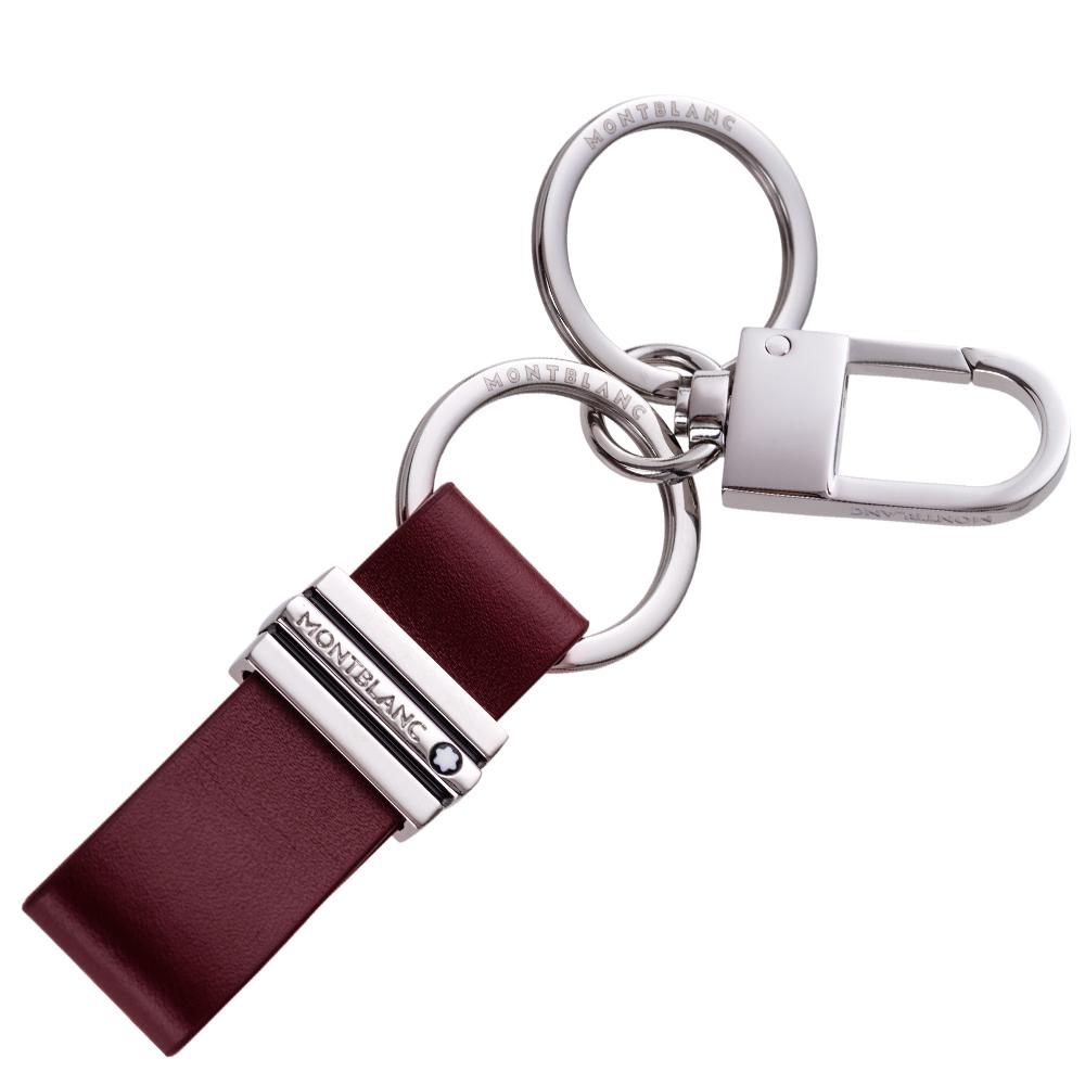 MONTBLANC万宝龙大班系列双环钩扣钥匙圈-酒红 118323